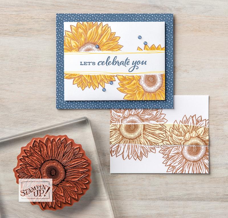 Celebrate Sunflowers Masked Card