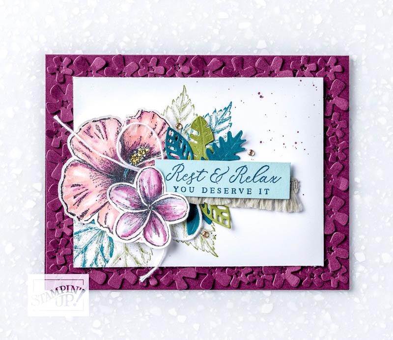 Tropical Oasis - Watercolor Card